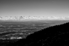Mittelland mit Alpen