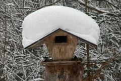 Vogelhaus Schneedach