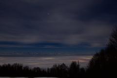 Nebelmeer bei Vollmondnacht