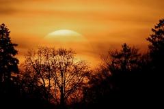 Sonnenuntergang mit Sonne gross